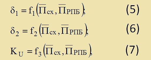 Математические модели ЭПЧ для разных типов ВАС
